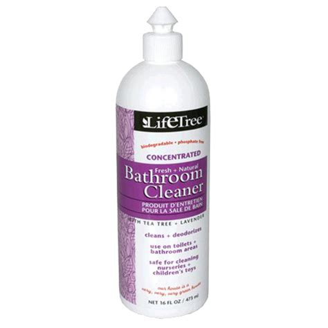 natural cleaner for bathroom life tree natural bathroom cleaner 16 oz findnatural com