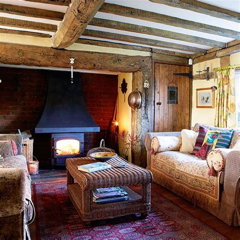 Home Interiors Uk Country Living Room With Oak Beams Country Living Rooms