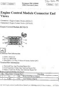 official 2006 chevrolet cobalt 2 2l ecu pinout