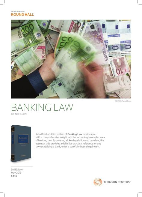 The Essential Laws Of Banking Explained by Breslin S Banking By Thomson Reuters Issuu