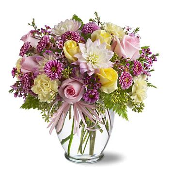 Beautiful Vase Of Flowers by Soft And Beautiful Flowers Vase By 1 800 Florals Florist