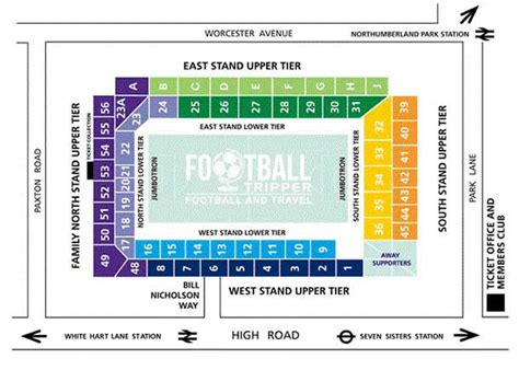 tottenham wembley seating plan away fans white hart tottenham hotspur f c football tripper