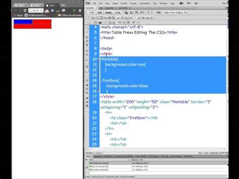 tutorial wordpress css tutorial on wordpress plugin tablepress styling the css