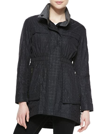 Pull And Anorak Quilted Jacket Black ali ro quilted anorak jacket black