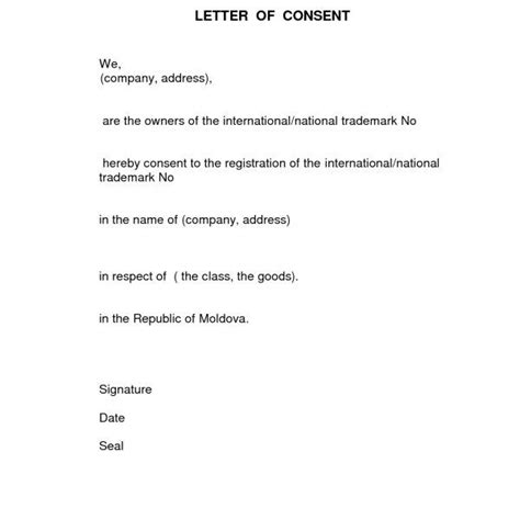 consent letter to use name format for consent letter best template collection