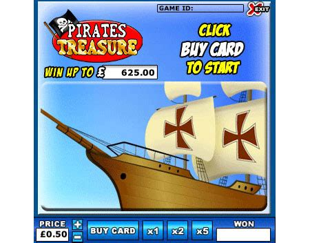 Instant Win Games Uk - play pirates treasure scratch cards and get 163 20 free king jackpot instant win