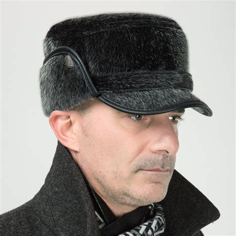 winter hat for middle aged mink winter bomber hats