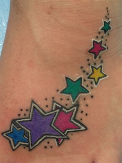 shooting star tattoo designs my shooting foot tattoos