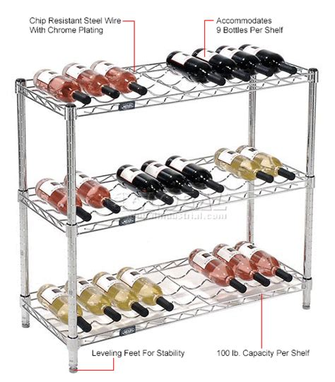 Cooking Wine Shelf by Shelving Food Storage Wine Bottle Rack 27 Bottle 36 Quot X 14 Quot X 34 Quot 797142