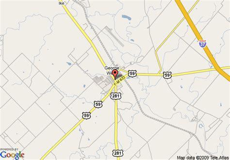 george west texas map map of best western george west executive inn george west