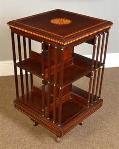 Antique Revolving Bookcase For Sale Edwardian Mahogany Inlaid Revolving Bookcase Antiques Atlas