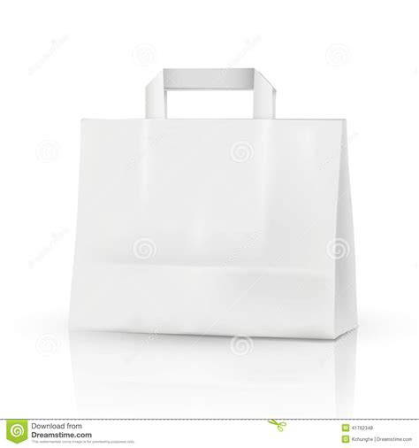 3d vector blank template 3d shopping bag stock vector