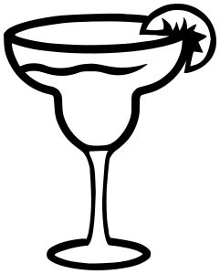 margarita clipart black and white margarita glass food beverages margarita