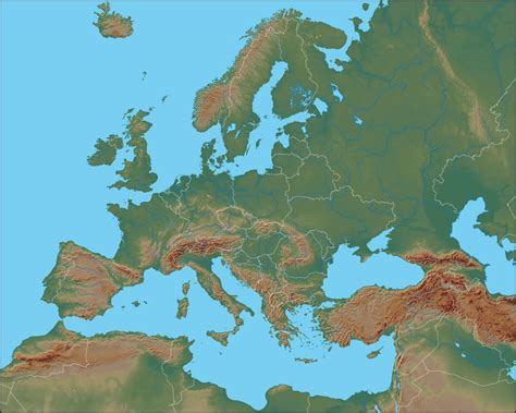 russia and europe physical map physical map of europe europe political map geology