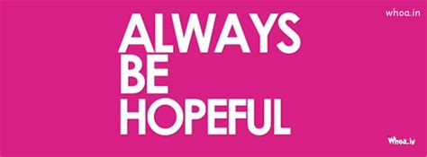 always be hopeful quote cover