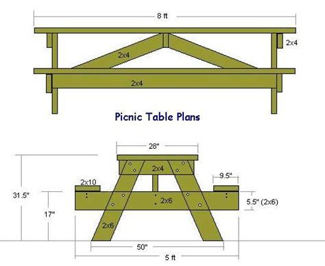 picnic table plans  metric valliew diy picnic table