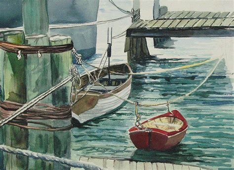 dinner on a boat galveston tx galveston boats watercolor painting by judy loper