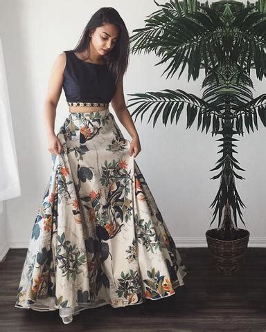 Diskon L 813 Transparent Grey Simple Dress white printed lehenga choli indian dresses 1 india fashion