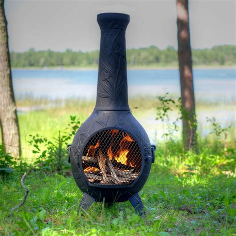 pit chiminea the blue rooster orchid style chiminea reviews wayfair