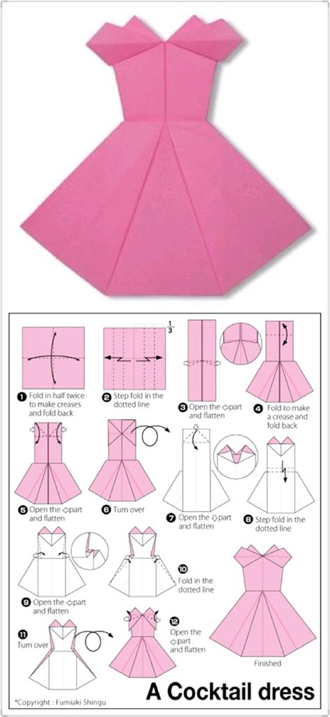 Origami Clothes Folding - 25 best ideas about origami dress on how to