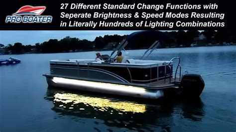 rgb led boat lights proboater 7 color rgb led boat light kit youtube
