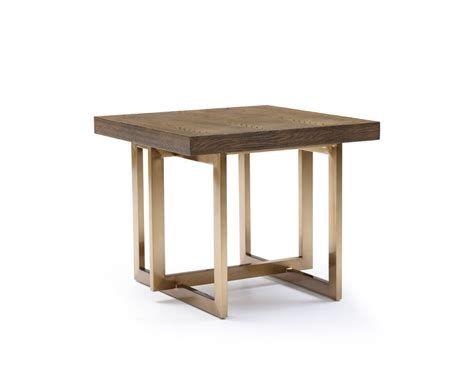 Antique Side Tables For Living Room Modrest Pike Modern Elm Antique Brass End Table End