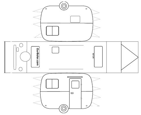 free trailer templates boler trailer paper template family outdoor adventures