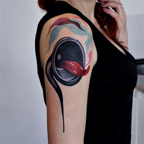 speaker tattoo screaming speaker shoulder best ideas gallery