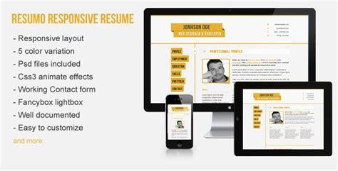 responsive resume cv resumo wordpress theme abidly