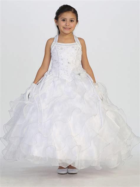 18247 Diagonal Ruffle S Sale Skirt floral bodice w diagonal ruffle skirt communion dress