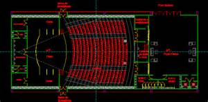 Retirement Home Design Plans auditorium in autocad drawing bibliocad