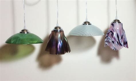 Handmade Glass Pendant Lights - glass pendant light workshop designs by sylvanye glass