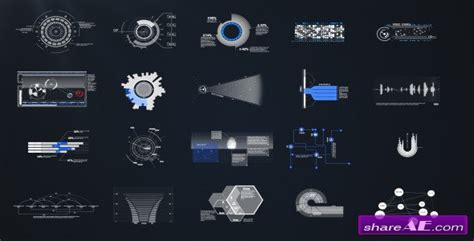 after effects template free phantom hud infographic hud infographic elements project for after effects
