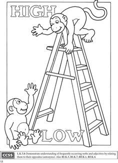 opposites coloring pages for toddlers 1000 images about opposite on opposite words