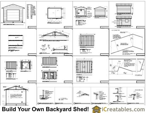 Garage Door Plans by 12x16 Shed Plans With Garage Door Icreatables
