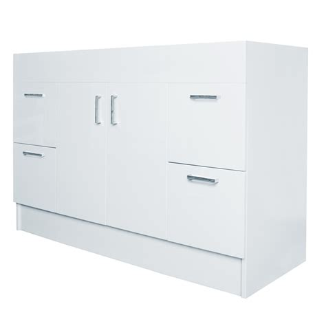 Estilo 1200mm Allana Gloss White Freestanding Vanity White Gloss Freestanding Bathroom Furniture