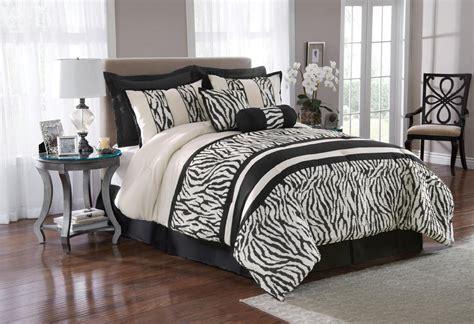 great find  piece zebra print bedding set