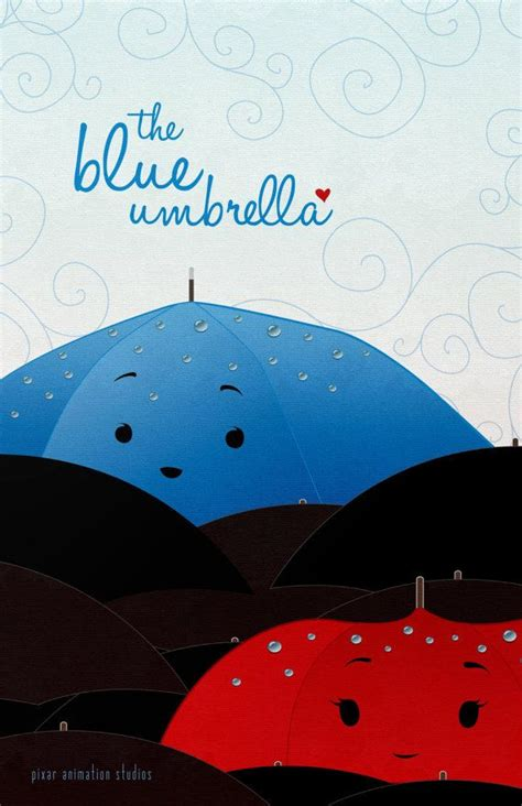 film blue umbrella pixar s the blue umbrella short film poster 11x17 art print
