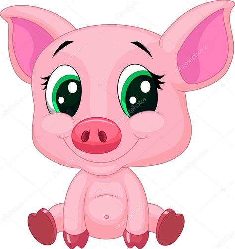 imagenes html animadas dibujos animados de cerdo lindo vector de stock