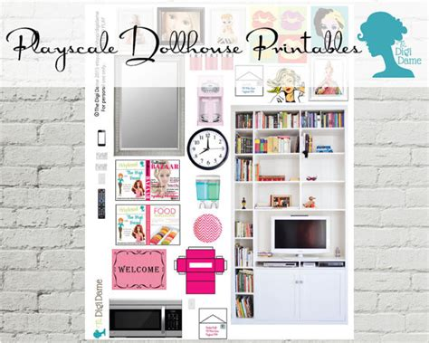 leopard print decor living room barbie doll house clearance pretend play printable playscale 1 6 by digidame