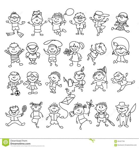 doodle jump x2 doodle children on vacation stock vector image 65407756