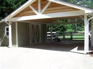 attached building carport ideas barns