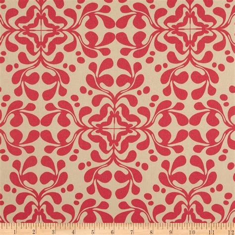 home decor cotton twill flourish coral home
