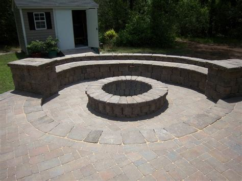 Belgard Patio Pavers Belgard Dublin Cobble Pavers Country Manor Wall And Firepit Dreamscape Hardscape And Design New