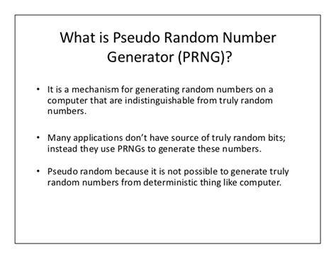 pseudo random pattern generator tutorial what is pseudo random number