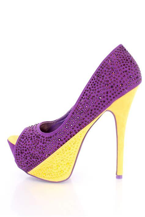 purple suede high heels purple rhinestone 6 inch high heels faux suede