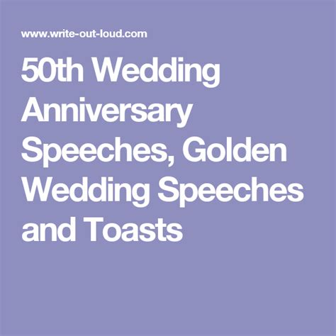 Wedding Anniversary Speech For Parents by 50th Wedding Anniversary Speeches Golden Wedding Speeches