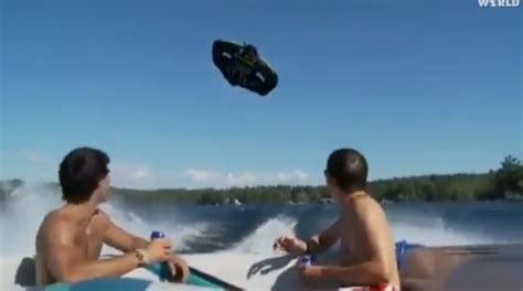 flying boat tube video boat fail kite tubing craze reaches scary new heights