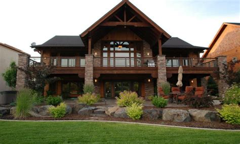 luxury house plans with walkout basement luxury hillside house plans with walkout basement new home plans design