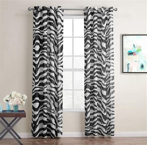 zebra window curtains sunnyrain 1 piece zebra stripe sheer curtain for living